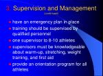3 supervision and management continued