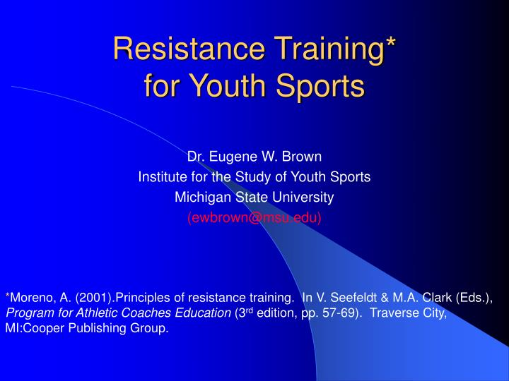 resistance training for youth sports n.
