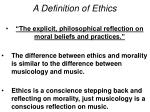 a definition of ethics1