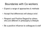boundaries with co workers