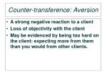 counter transference aversion