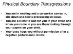 physical boundary transgressions