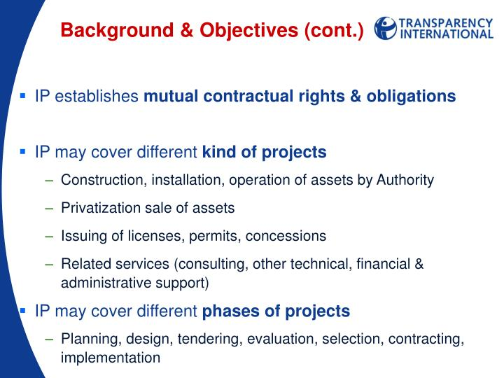 Background & Objectives (cont.)