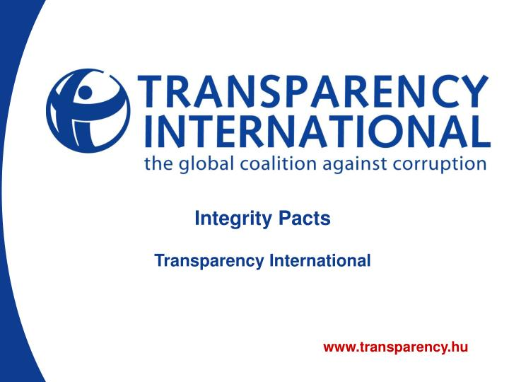 Integrity Pacts
