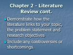chapter 2 literature review cont