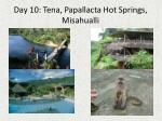 day 10 tena papallacta hot springs misahualli