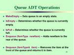 queue adt operations