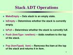 stack adt operations