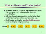 what are header and trailer nodes