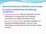 electronic commerce definitions and concepts