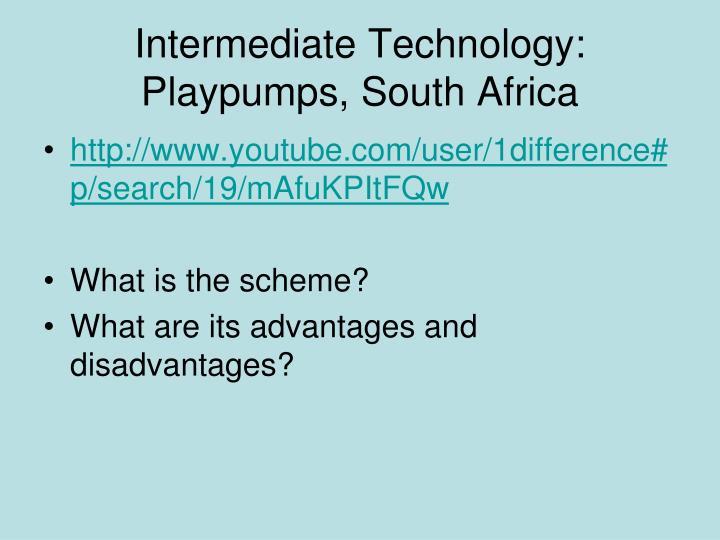 Intermediate Technology:  Playpumps, South Africa