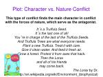 plot character vs nature conflict