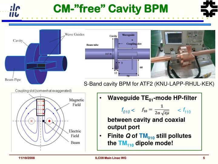 """CM-""""free"""" Cavity BPM"""
