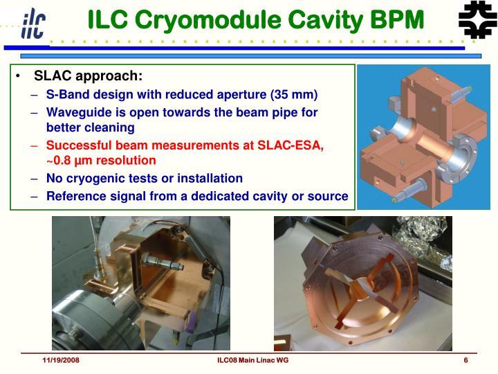 ILC Cryomodule Cavity BPM