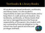 textbooks library books