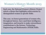 women s history month 20131