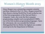 women s history month 201315