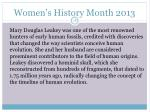 women s history month 201317