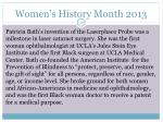 women s history month 201319