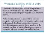 women s history month 201321
