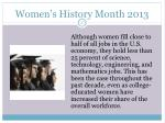women s history month 201326