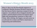 women s history month 20133