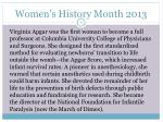 women s history month 20135
