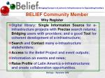 belief community member