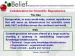 collaboration for scientific repositories