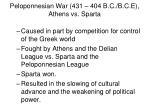 peloponnesian war 431 404 b c b c e athens vs sparta