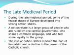 the late medieval period