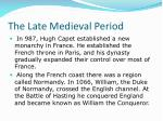 the late medieval period1