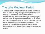 the late medieval period2