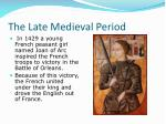 the late medieval period4