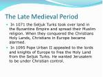 the late medieval period8
