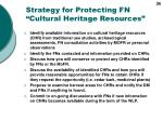 strategy for protecting fn cultural heritage resources