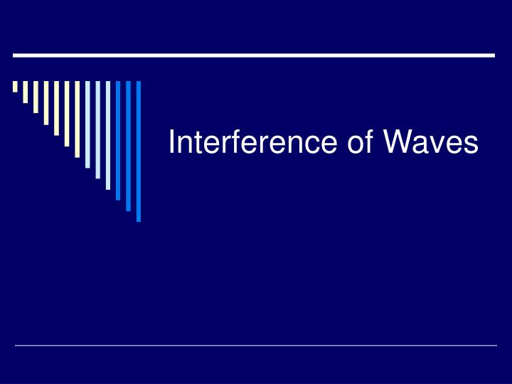 interference of waves n.