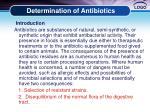 determination of antibiotics