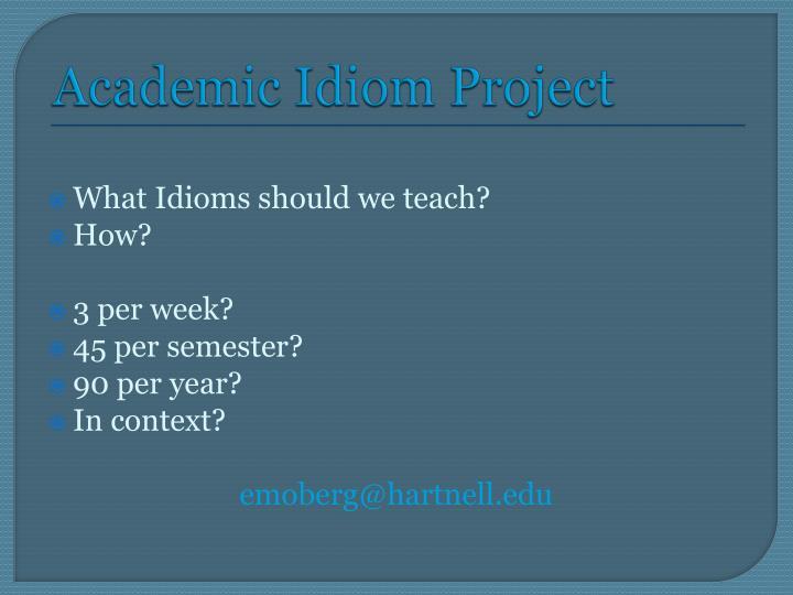 Academic Idiom Project