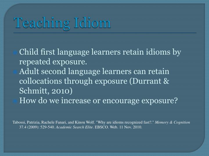 Teaching Idiom