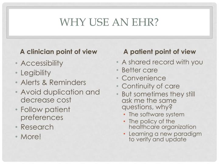 Why use an EHR?
