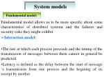 system models12