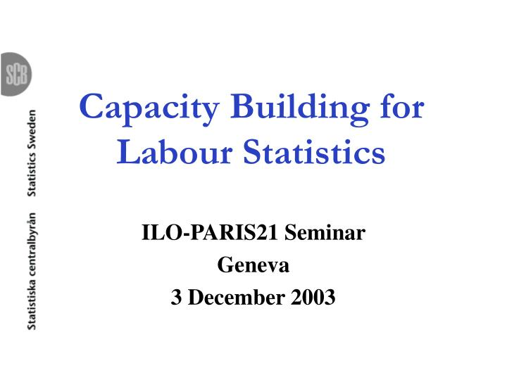 capacity building for labour statistics n.