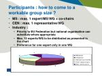participants how to come to a workable group size