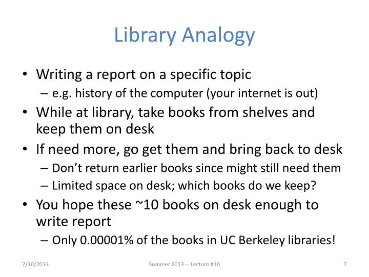 Library Analogy