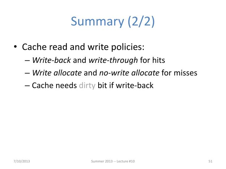 Summary (2/2)