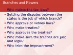 branches and powers