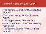 common name proper name