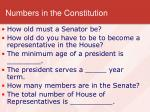 numbers in the constitution