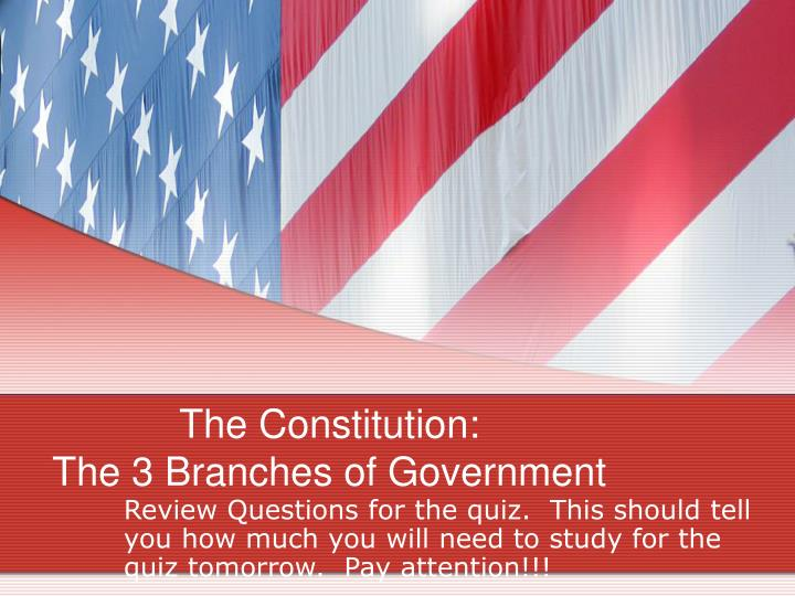 the constitution the 3 branches of government n.